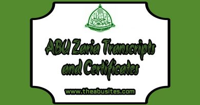 Official Guide: ABU Zaria Transcripts and Certificates Collection 16