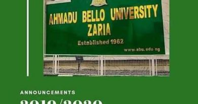 ABU Admission List for 2019/2020 Session Released On School Portal 4
