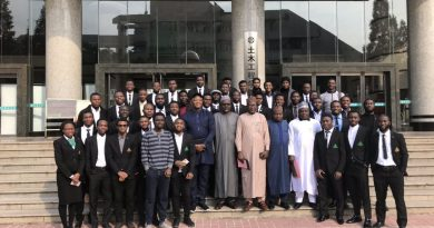 PHOTOS: Caring ABU VC, Prof Ibrahim Garba visit ABU Engineering students in China 5