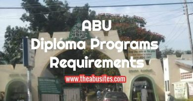 Entry Requirements for ABU Diploma Programs 6