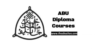 Complete List of 129 ABU PGD Courses, Diplomas, and Certificate Courses 5