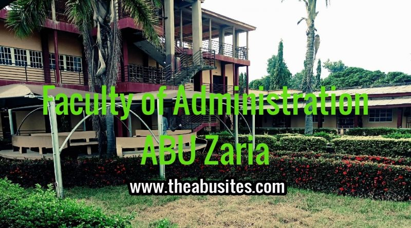 ABU Postgraduate Admission Requirements - Faculty of Administration 1
