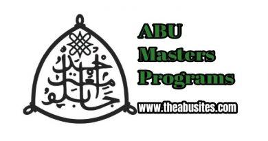 Full List of the 256 ABU Masters Programs 4