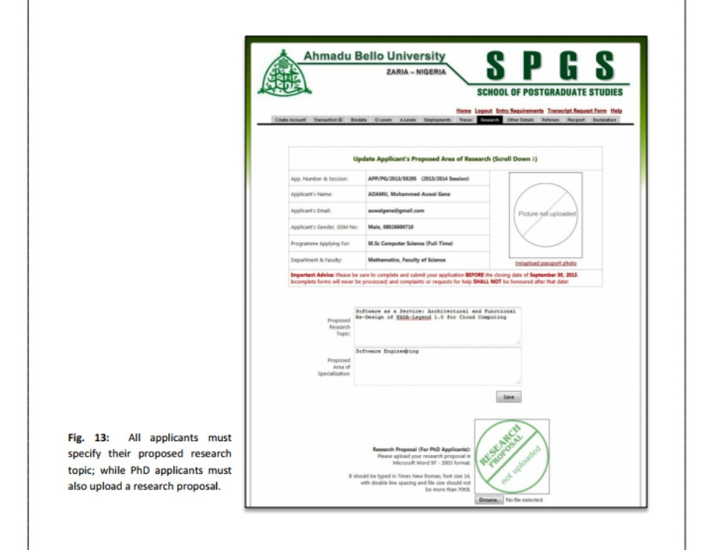 ABU PG Application Form Online for PGD, MSc, MPhil and PhD Programmes