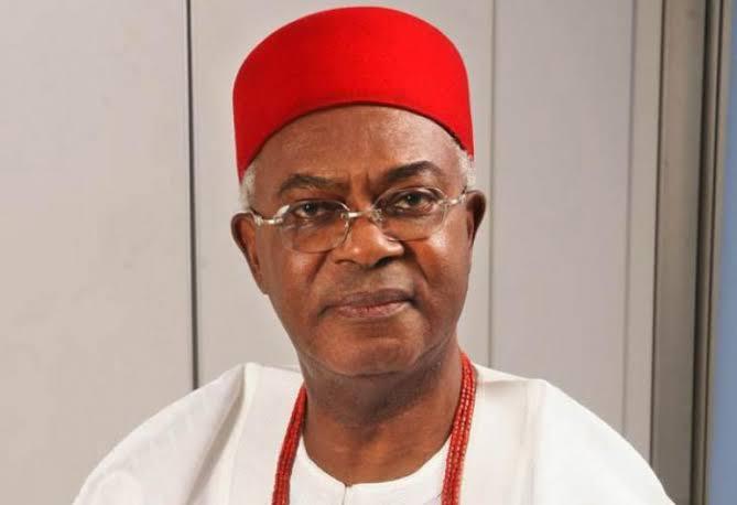 Igwe Alfred Achebe, The Obi of Onitsha and Chancellor of the Ahmadu Bello University (ABU), Zaria.