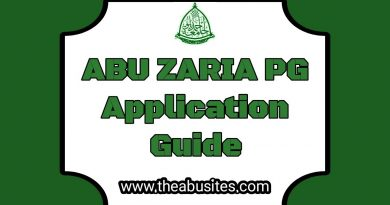 Official Guidelines On Filling ABU PG  Application Forms 6