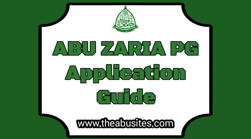 Official Guidelines On Filling ABU PG  Application Forms 10