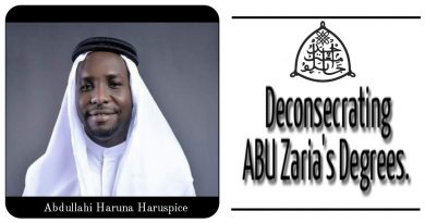 Deconsecrating ABU Zaria's  Degrees. 4