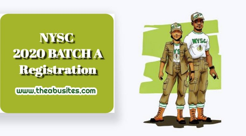 Official Guide to NYSC 2020 Batch A Online Registration 1
