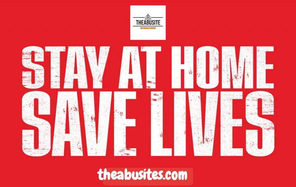 COVID19: Stay at Home Rule banner