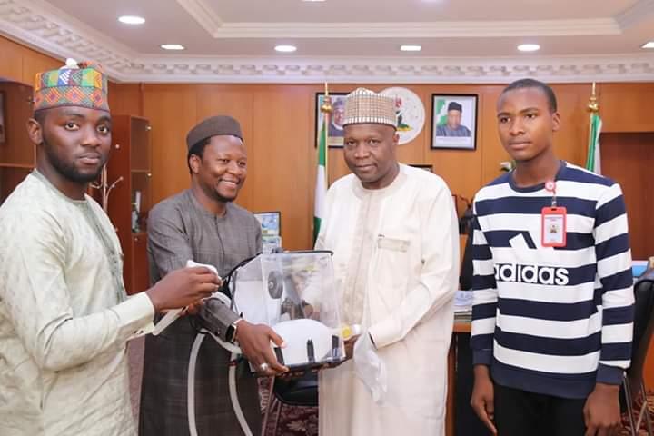 Gov. Inuwa Receives Usman Dalhatu & Other Gombe Indigines Who Produced Ventilator