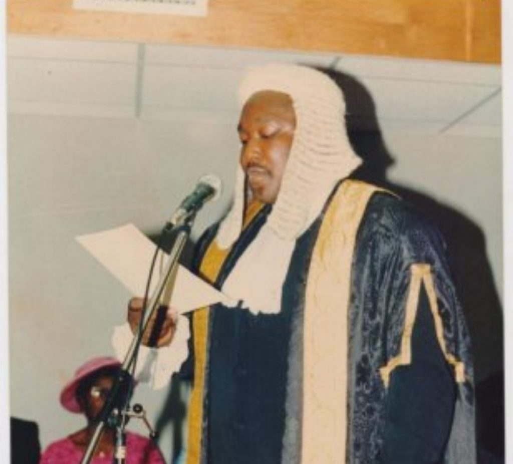 Joseph Bodunrin Daudu during his swearing-in as a Senior Advocate of Nigeria. 24th of April 1995