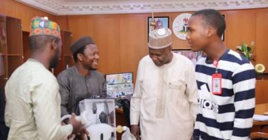 Gov. Inuwa Receives Usman Dalhatu & Other Gombe Indigenes Who Produced Ventilator 6