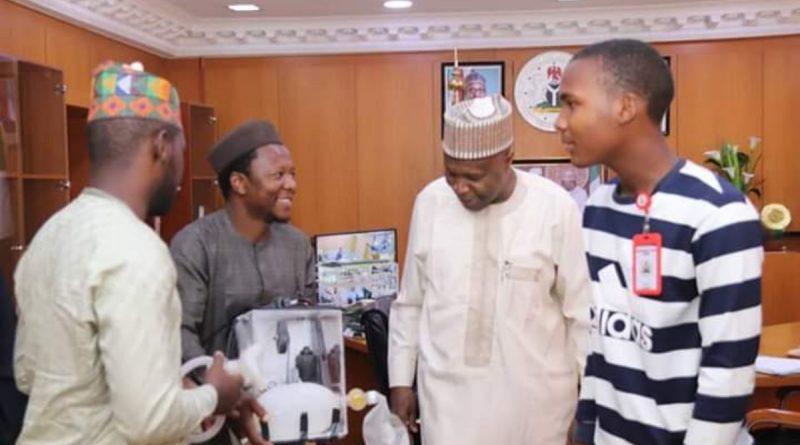 Gov. Inuwa Receives Usman Dalhatu & Other Gombe Indigenes Who Produced Ventilator 1
