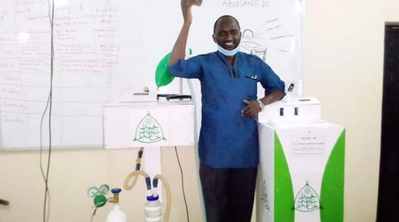 Another ABU Team  Developed ICU ventilator & 4-in-1 automatic Hand sanitizing Machine. 1