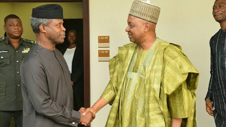 Former Vice President Namadi Sambo Visits Vice President Osinbajo In Abuja