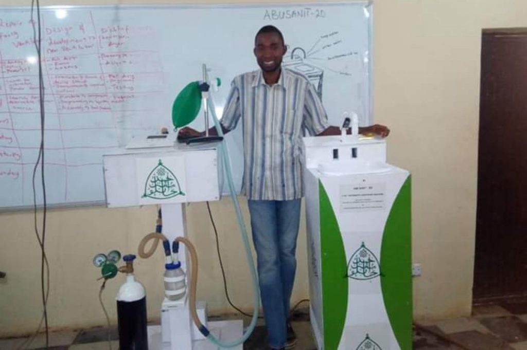 Another ABU Team  Developed ICU ventilator & 4-in-1 automatic Hand sanitizing Machine. 2