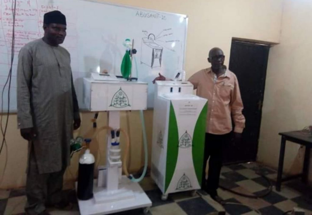 Another ABU Team  Developed ICU ventilator & 4-in-1 automatic Hand sanitizing Machine.
