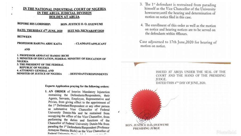 Court Stops Appointment of Prof Armayau Hamisu Bichi as Substantive VC FUDMA