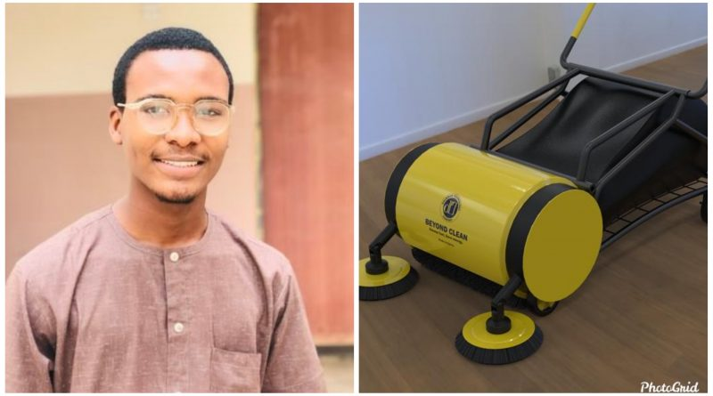 200L ABU student celebrated for Inventing road sweeping machine.