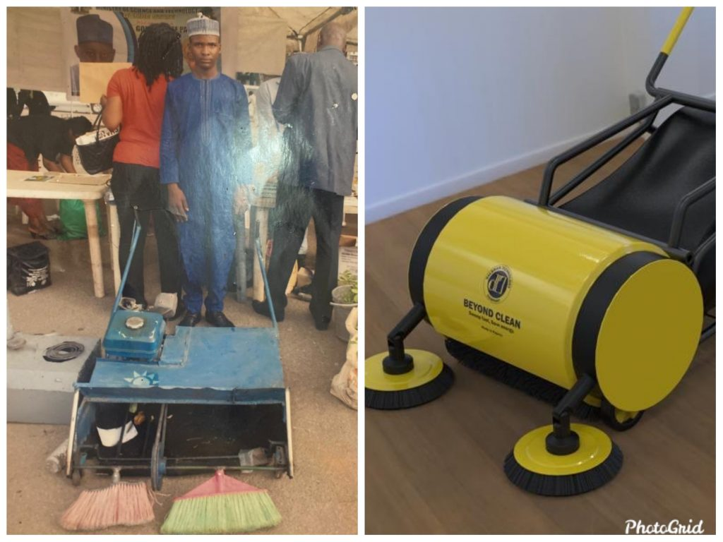 ABU student celebrated for Inventing road sweeping machine
