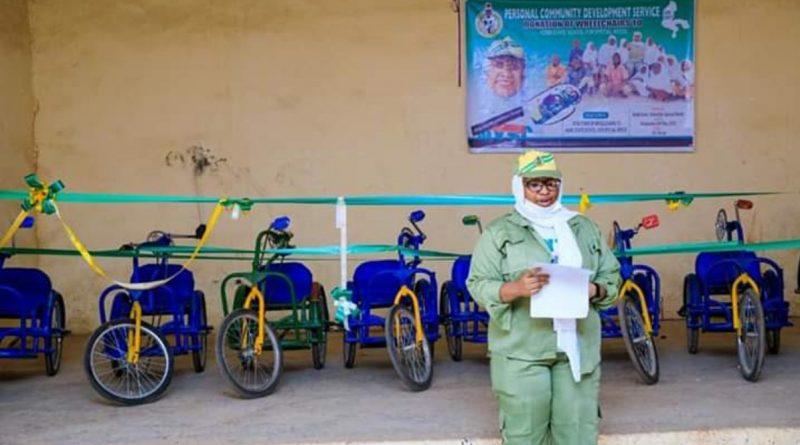 Abusite Corper Donates 12 WheelChairs to Physically Challenged Students 1