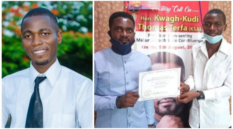 Legislator Honors Idris Hassan, ABU Student who won Int'l Essay Competition. 2
