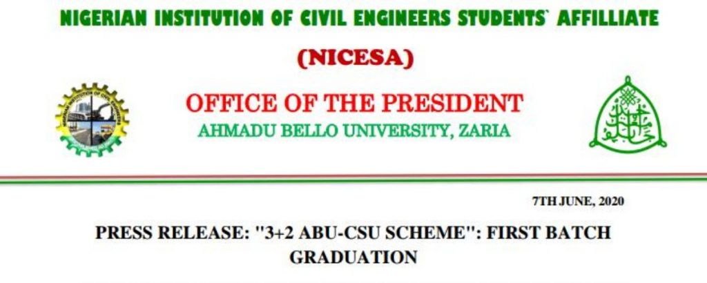 NICESA Congratulates ABU Students who graduate in China with flying colors
