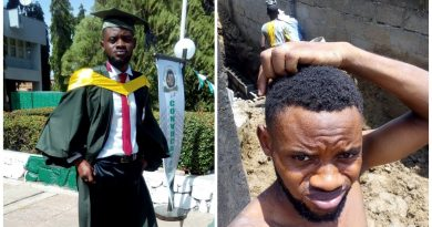 ABU Graduate trending for posting photos of himself on a building site for 2000/Day 6
