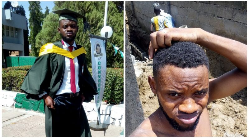 ABU Graduate trending for posting photos of himself on a building site for 2000/Day 3