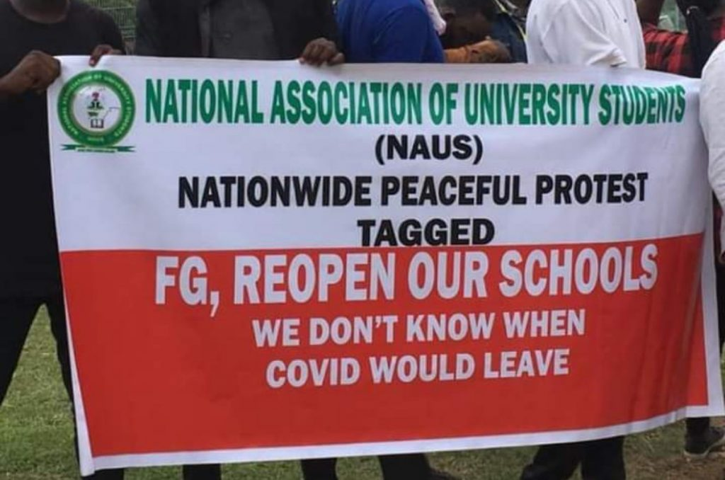 Students protest in Abuja over continued closure of schools